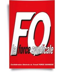 Affiche LOGO FO La Force Syndicale
