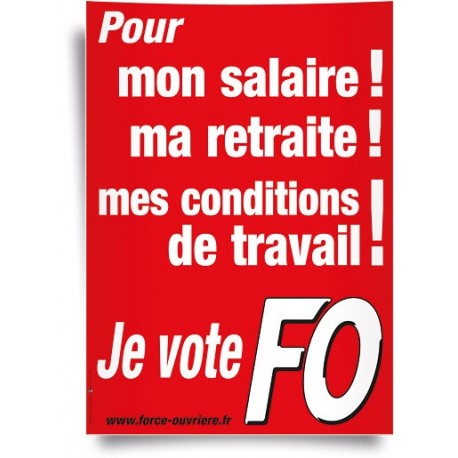 Affiche, je vote pour ...
