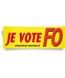 Affiche panoramique : « JE VOTE »
