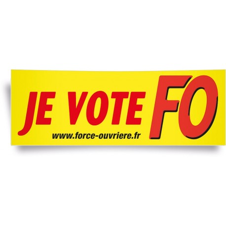 Affiche panoramique, je vote