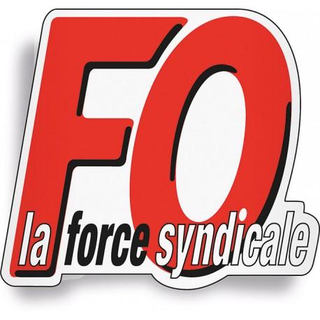 AUTOCOLLANT « FO - LA FORCE SYNDICALE »